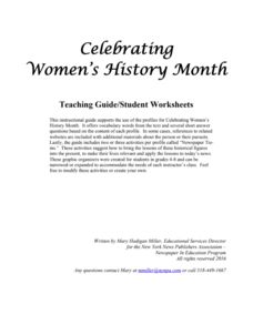 Celebrating Women's History Month Activities & Project