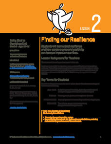 Finding our Resilience Lesson Plan