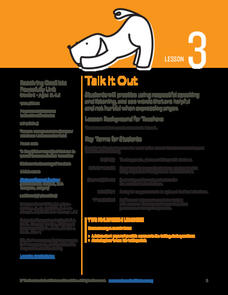 Talk It Out Lesson Plan