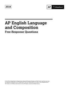 ap english language and composition exam 2018