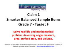Smarter Balanced Sample Items: 7th Grade Math – Target F Assessment