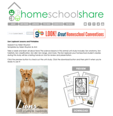 Lion Lapbook Unit