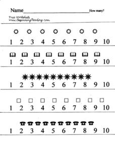 How Many: Basic Counting Worksheet Lesson Plan