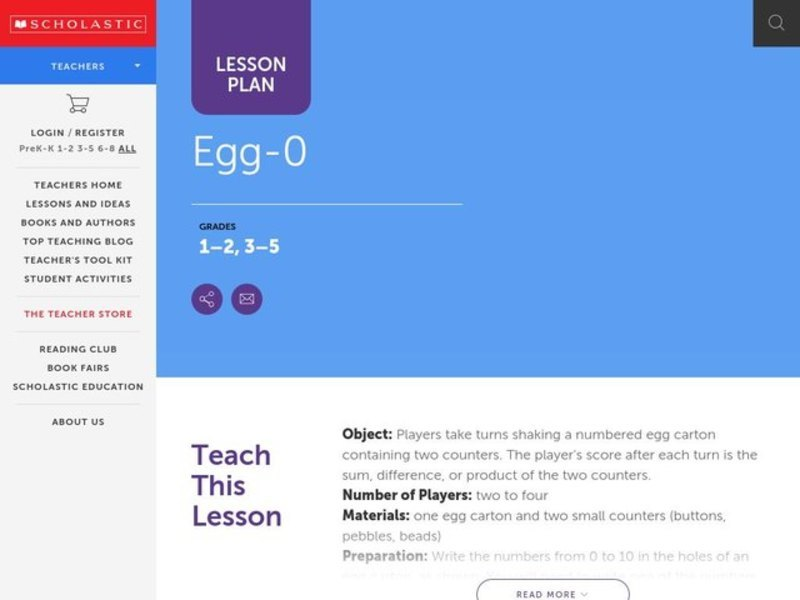 Egg-O Lesson Plan