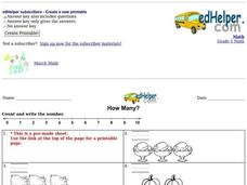 How Many? Worksheet