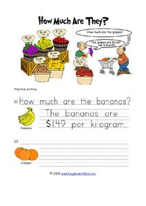 How much are they? Worksheet