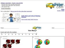 How Many? Count and Write Worksheet