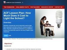 How Much Does it Cost to Light Your School? Lesson Plan