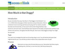 How much is that doggie? Lesson Plan