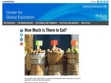 How Much is There to Eat? Lesson Plan