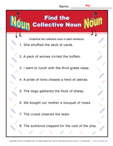 Find the Collective Noun Worksheet