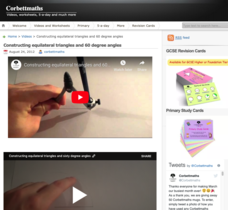 Constructing Equilateral Triangles and 60 Degree Angles Video