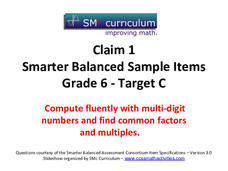 Smarter Balanced Sample Items: 6th Grade Math – Target C Assessment