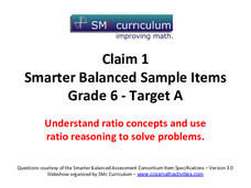 Smarter Balanced Sample Items: 6th Grade Math – Target A Assessment