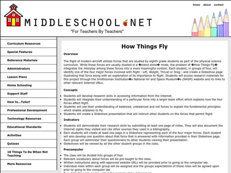 How Things Fly Lesson Plan