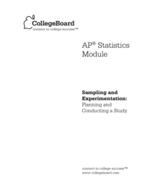 Planning and Conducting a Study AP Test Prep