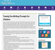 Twenty Fun Writing Prompts for Kids Activities & Project