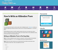 How to Write an Alliteration Poem Activities & Project