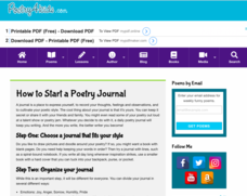 How to Start a Poetry Journal Activities & Project