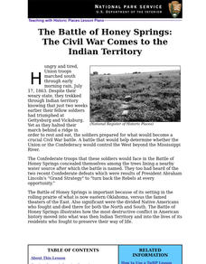 The Battle of Honey Springs: The Civil War Comes to the Indian Territory (68) Lesson Plan