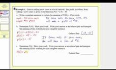 Applications of Formulas in Function Notation Video