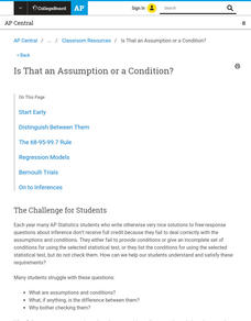 Is That an Assumption or a Condition? AP Test Prep