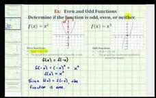 Introduction to Odd and Even Functions Video