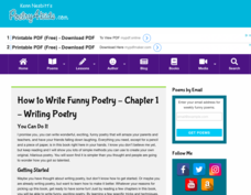 How to Write Funny Poetry — Chapter 1: Writing Poetry Activities & Project