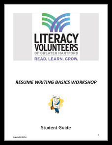 Resume Writing Basics Workshop Activities & Project