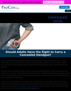 Concealed Handguns Handouts & Reference