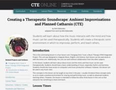 Creating a Therapeutic Soundscape: Ambient Improvisations and Planned Catharsis (CTE) Lesson Plan