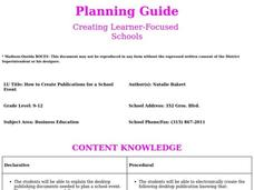 How to Create Publications for a School Event Lesson Plan