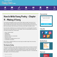 How to Write Funny Poetry — Chapter 4: Making It Funny Activities & Project