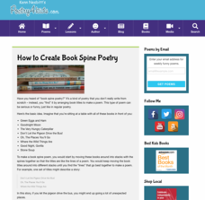 How to Create Book Spine Poetry Activities & Project