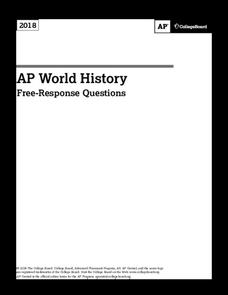 2018 AP® World History Free-Response Questions AP Test Prep