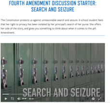 Classroom Discussion Starter: Search and Seizure Video