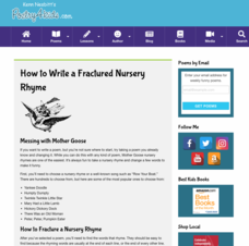 How to Write a Fractured Nursery Rhyme Activities & Project