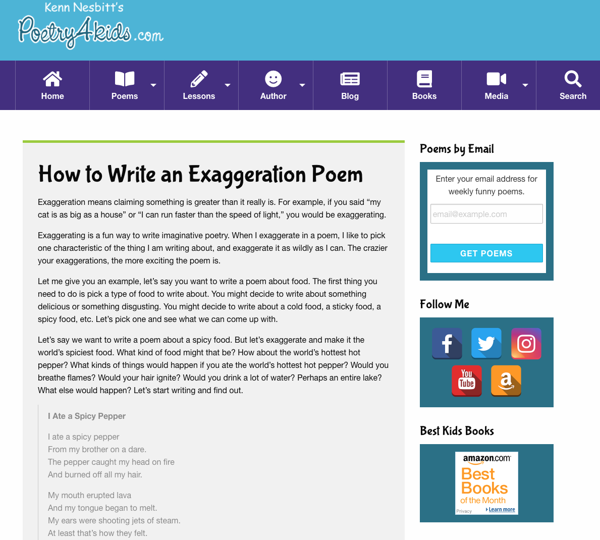 How To Write An Exaggeration Poem Activities Project For