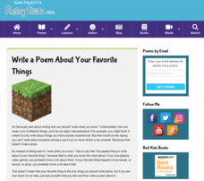 "How to Write a ""Favorite Things"" List Poem Activities & Project"