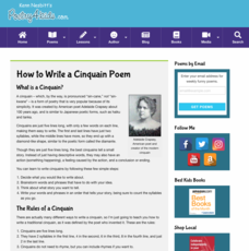 How to Write a Cinquain Poem Activities & Project