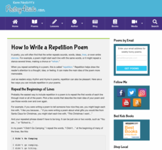 How to Write a Repetition Poem Activities & Project
