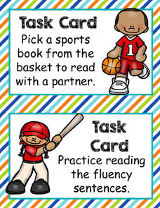 Sports Word Work Literacy Pack Printables & Template