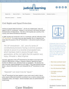 Civil Rights and Equal Protection Interactive