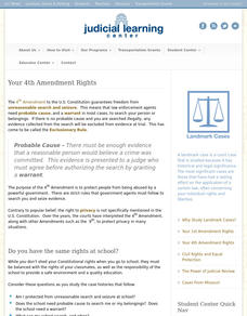 Your 4th Amendment Rights Interactive