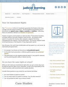 Your 1st Amendment Rights Interactive