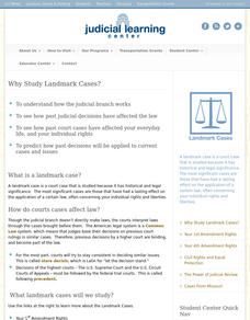 Judicial Learning Center: Landmark Cases