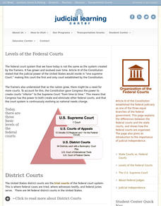 Levels of the Federal Courts Interactive