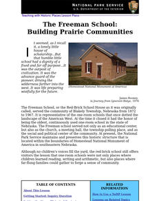 The Freeman School: Building Prairie Communities Lesson Plan
