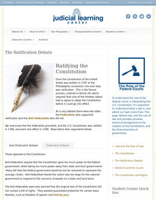 The Ratification Debate Interactive