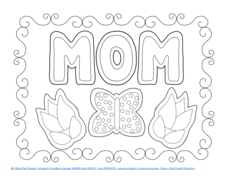 Mother's Day Coloring and Writing Pages Printables & Template